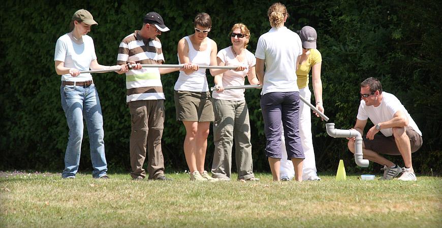 Bild einer Gruppe bei einer Gruppenübung