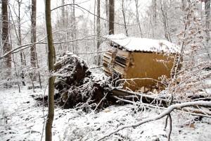 Kletterwald München (beschädigte Umkleidekabine)