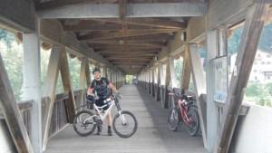 Kletterwals München Teammitglied Sven mit MTB