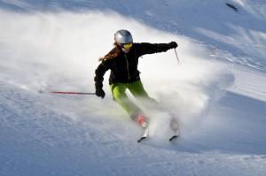 Leni beim Skifahren