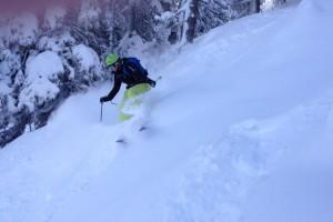 Kletterwald München Teammitglied Sarah bei Skifahren
