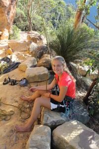 Kletterwald-Muenchen-Teammitglied-Lina-beim-Klettern