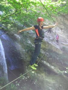 Kletterwald-München-Teammitglied-Kathi-am-Klettersteig