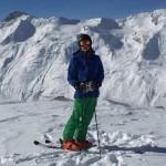 Lukas bein Skifahren