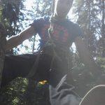 Momo im Kletterwald München in Action